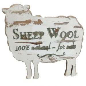 Sheep Shaped Wooden Poster