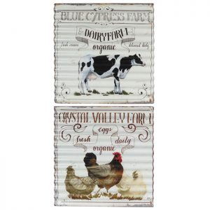 Vintage Dairy & Farm Corrugated Iron Posters