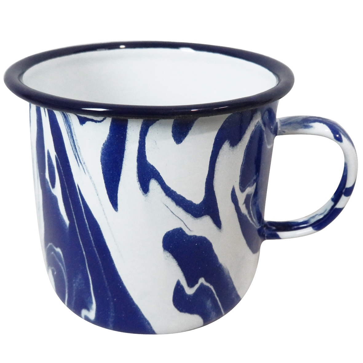 600ml Handmade Blue And White Marble Effect Enamel Mug Featuring Unique Design Ebay