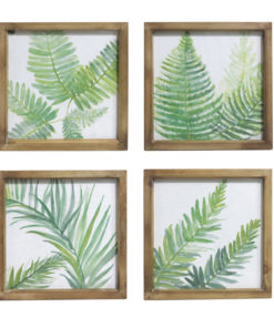 Set of 4 Wooden Framed Fern Canvas Prints
