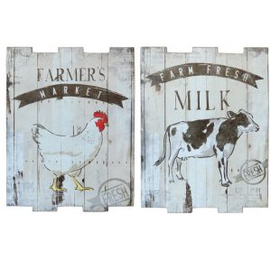 Farmers' Market Print on Wooden Posters