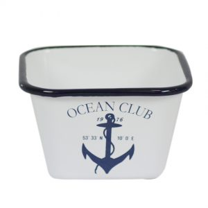 Enamel Ocean Club Square Bowl