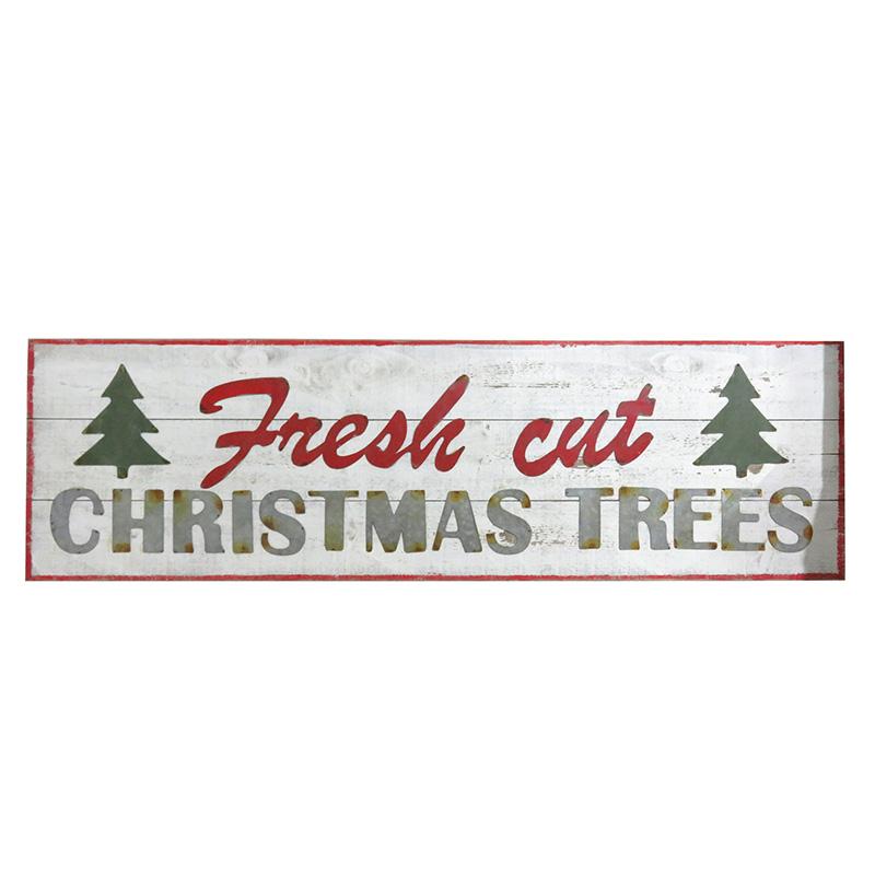 Fresh Cut Christmas Trees Sign.Fresh Cut Christmas Trees Wooden Sign