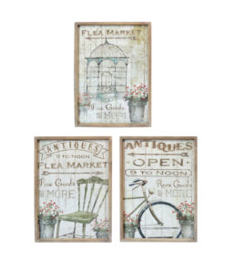 Set of Three Wooden Framed Canvas Prints