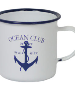 Enamel Anchor Mug