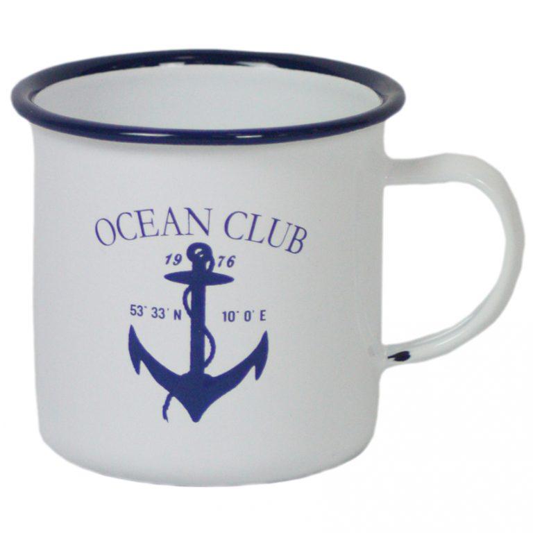 Enamel Anchor Mug
