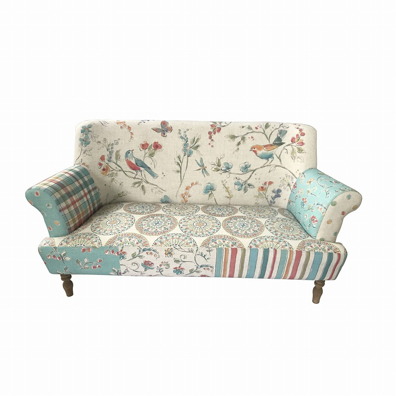 Blue Bird Print Sofa All Chic Home And Garden