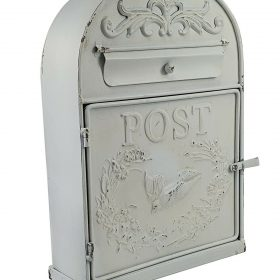 Handmade White Metal Rustic Wedding Postbox Letter Mail Card Gift Table Wall