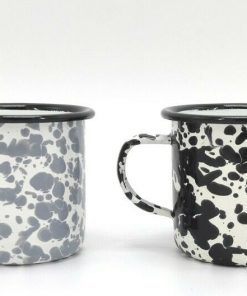 Set Of 4 Unique Marble Pattern Mugs Camping Boat Motorhome Cups Drink Coffee