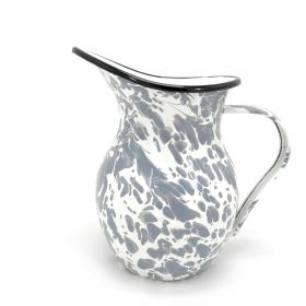 Grey Marble Pouring Jug Watering Serving Spout Home Garden Kitchen Pitcher 1.2L