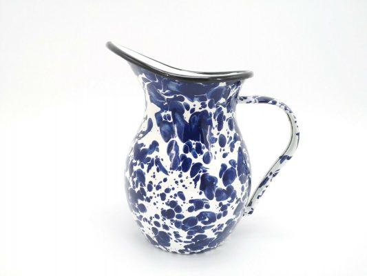 Blue Marble Pouring Jug Serving Spout Home Garden Kitchen Pitcher Boat 1.2L