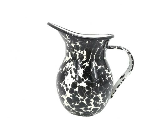 Black Marble Pitcher Pouring Spout Home Garden Water Jug Kitchen Camping 1.2L