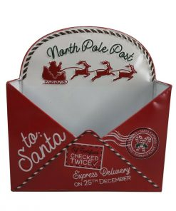 Children's Christmas List Letter To Santa Post Box Envelope Wall Mount Mail Red