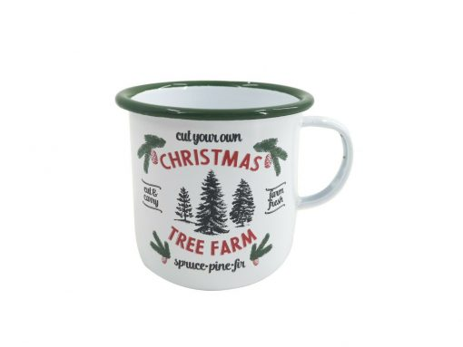 Retro White Xmas Mug Cup Water Mulled Wine Christmas Tree Gift Coffee Tea