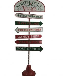 Large 1.2M North Pole Village Outdoor Christmas Sign Xmas Market Home