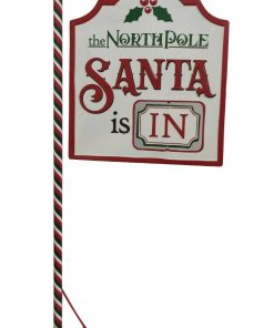 Large 1.2M North Pole Santa Sign Grotto Xmas Market Childrens Christmas Home