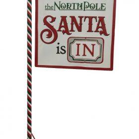 Large 1.2M North Pole Santa Sign Grotto Xmas Market Childrens Christmas Home